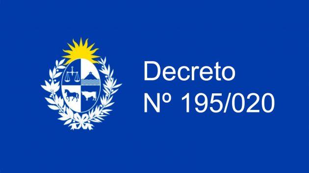 Decreto Nº 195/020 De La Presidencia De La República Oriental Del Uruguay